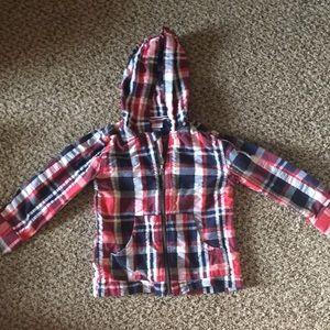 Gymboree plaid hooded jacket, size 2T-3T